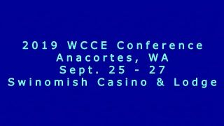 WCCE Conference featuring Frank J. Kenny
